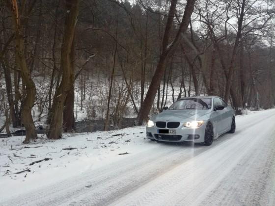 335XI direkt nach Kauf im Schnee