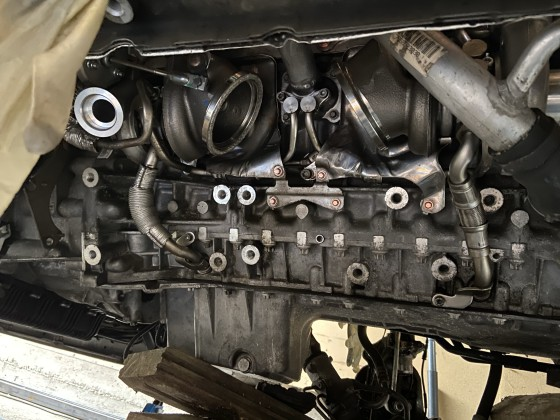 Einbau Turbolader N54
